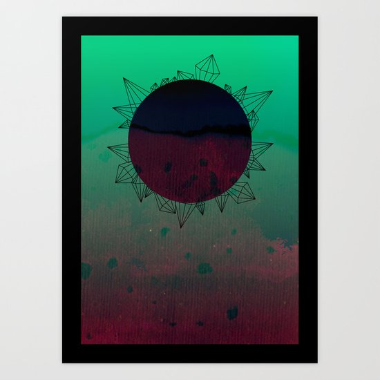 crystal sunrise Art Print