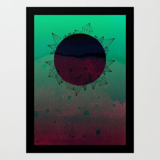 crystal sunrise Art Print