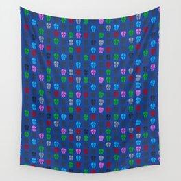petrol Head Pattern Blue Wall Tapestry
