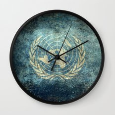 The United Nations Flag - Vintage version Wall Clock