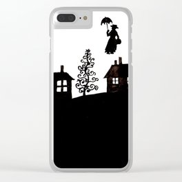 The Christmas village Clear iPhone Case