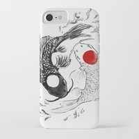 ying yang iPhone & iPod Cases featuring Koi fish ying yang by Maioriz Home