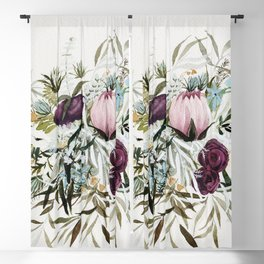 Rustic and Free Bouquet Blackout Curtain