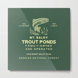 Baldy Trout Pools Metal Print