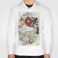 fear and loathing Hoodies featuring Fear and Loathing Print by Just Bailey Designs