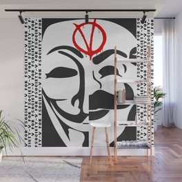 V for Fsociety Wall Mural