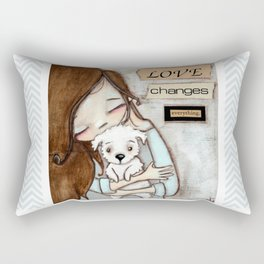 Love Changes Everything by Diane Duda Rectangular Pillow