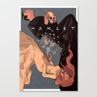 hamlet Canvas Prints featuring Hamlet by dobie