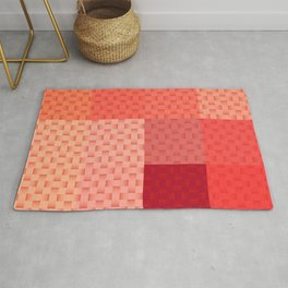 PINK SPRING BLOCK AND WEAVE PATTERN Rug