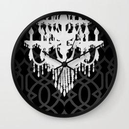Chandelier Silhouette & Imperial Trellis Wall Clock