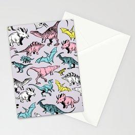 Pastel Dinosaurs Stationery Cards