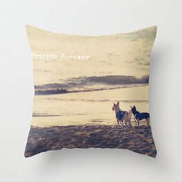 Friends Forever Throw Pillow