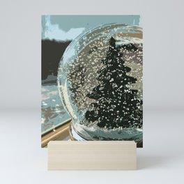 Snowglobe of a Pine Tree Mini Art Print