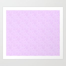 Dancing Purple Colored Snowflakes Art Print