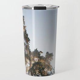 Smoky pine trees Travel Mug