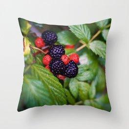 BLACK RASPBERRY Throw Pillow