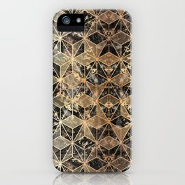 Gold Marble Geometric iPhone Case