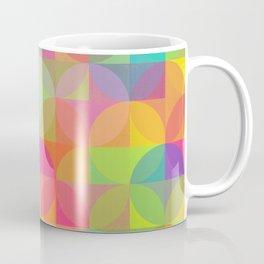 Vibrant Plaid and Circle Pattern Coffee Mug