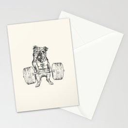 English Bulldog Lift Stationery Cards