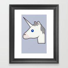 Unicorn emoji Framed Art Print