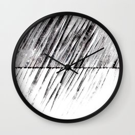 triangle no.2 / black Wall Clock