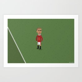 Cantona's celebration Art Print