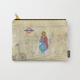 Jesus on the Tube, He is among us Carry-All Pouch