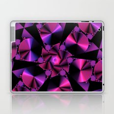 Abstract 344 a berry and black kaleidoscope Laptop & iPad Skin
