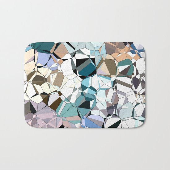 Abstract Geometric Shapes Bath Mat