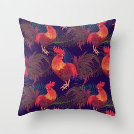 2017 Rooster year Throw Pillow