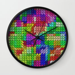 sweeping pattern 01 Wall Clock