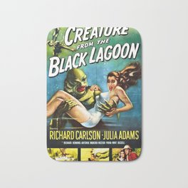 Creature from the Black Lagoon, vintage horror movie poster Bath Mat