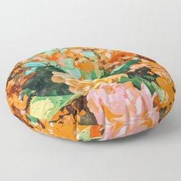 Blush Garden #painting #nature #floral Floor Pillow