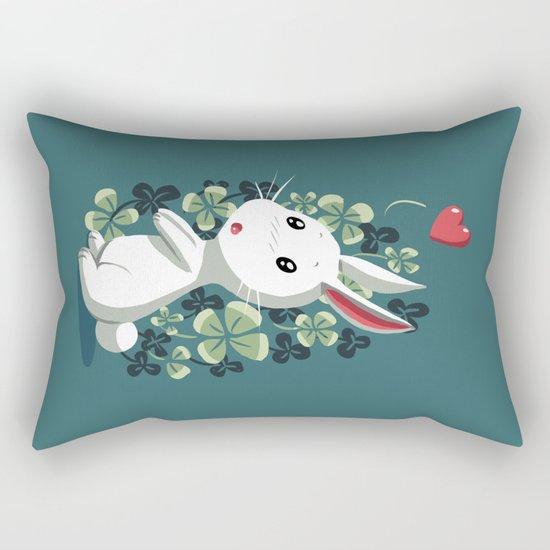 Clover Bunny Rectangular Pillow