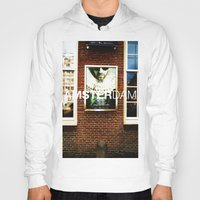movie posters Hoodies featuring Amsterdam Posters by Cristhian Arias-Romero