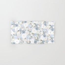 Light Blue Floral Pattern Hand & Bath Towel