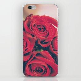 Bundle of Red Roses iPhone Skin