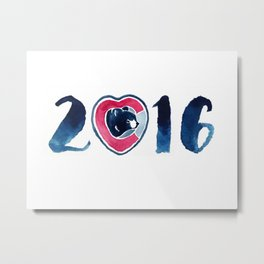 2016 World Series Champions Cubs Metal Print
