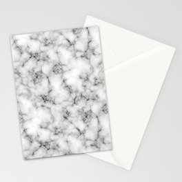 White Marble Texture Stationery Cards