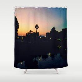 Sunset fever Shower Curtain