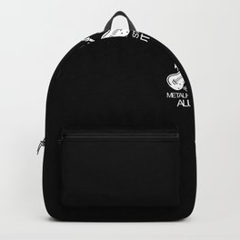 Metalhead Rock and Roll Metal Music Backpack