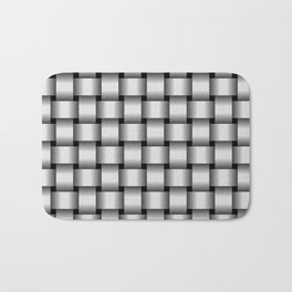 Pale Gray Weave Bath Mat