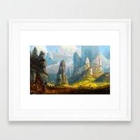 spires Framed Art Prints featuring Iaotia Spires by Stephen Garrett