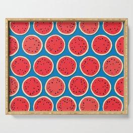 watermelon polka blue Serving Tray