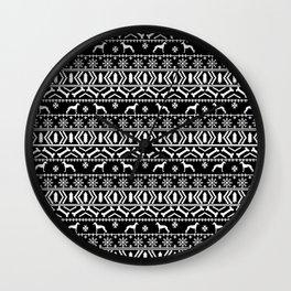 Italian Greyhound fair isle christmas snowflakes dog breed silhouette pattern gifts Wall Clock