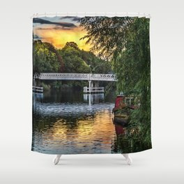 Above The Toll Bridge At Pangbourne Shower Curtain