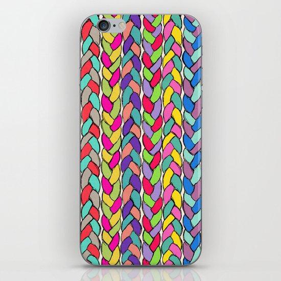 Rainbow Braids iPhone & iPod Skin