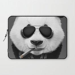 Panda in Black Laptop Sleeve