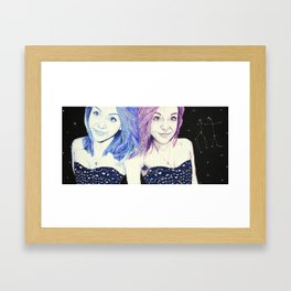 Zodiac Series: The Gemini Framed Art Print