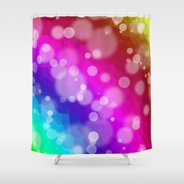 Rainbow Bokeh Pattern Shower Curtain
